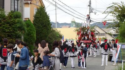 伊丹市荒牧 天日神社のダンジリ祭り 昼の部。