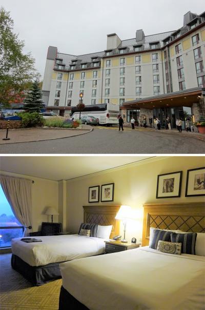 カナダ建国150周年の年に、メープル街道を満喫するはずが…その②:ホテル・フェアモントトレンブラン(モン・トランブラン)は部屋が広くて眺めも良し。