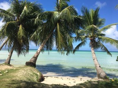 サイパン島までのフライト、ホテルとビーチ。