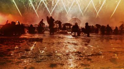 雨の八代花火大会2017