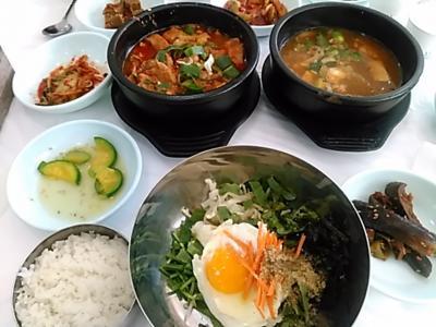 168回目韓国旅行は友人と2人で馬耳山(全羅北道鎮安)へ。久々に一人旅ではない訪韓(2017/11/3金~5日)。<No.4/7>釜山から鎮安へ移動~ビビンパッの昼食~馬耳山へ。