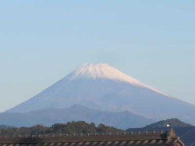 富士山、初冠雪?