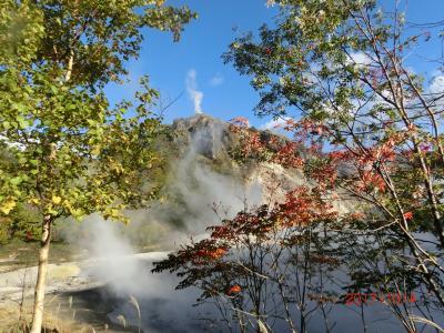 2017/10 北の都*札幌&登別3泊4日の旅(6)登別温泉と大湯沼を満喫