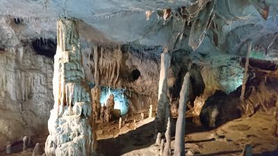 郡山駅からレンタカーで一時間 「あぶくま洞」鍾乳洞へ行きました。