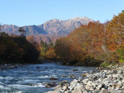 奥只見の紅葉・・滝雲の枝折峠と銀山平、神蜂展望台をめぐります。