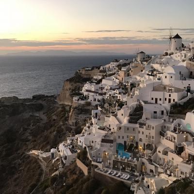 2017★ギリシャ/サントリーニ島④ イア散策(ランチ&サンセット)