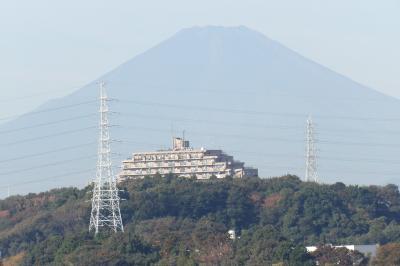 紅葉滝から見える富士山