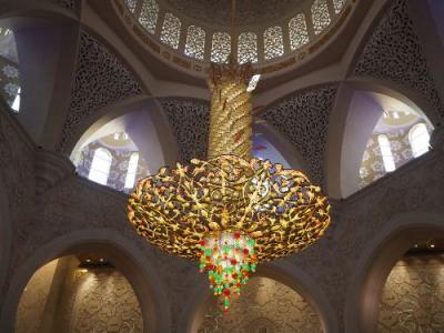 エミレーツ航空ビジネスクラスで行く煌きのUAE④世界一の白亜のモスク「シェイク・ザイード・モスク」・フェラーリワールド