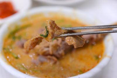 光州の美味しい通り!無等山麦ご飯・松汀トッガルビ・オリタン(鴨スープ)