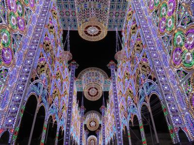 プーリア州優雅な夏バカンス♪ Vol349(第16日) ☆Scorrano:スコッラーノのルミナリエ♪美しい光の大聖堂も音楽ショー♪
