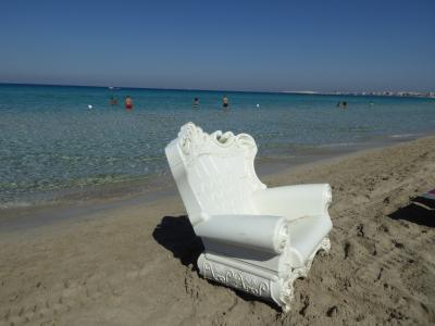プーリア州優雅な夏バカンス♪ Vol358(第18日) ☆Gallipoli:ガッリーポリ高級リド「サムザーラ」優雅なビーチバカンス♪青いイオニア海に染められて♪