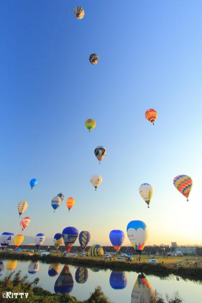 熱気球のまち佐賀へ♪(2) 青空に彩るカラフルバルーン【2017佐賀インターナショナルバルーンフェスタ】