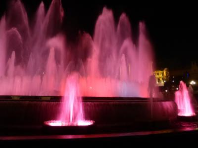噴水ショー、バルセロナ観光、モンジュイックの丘