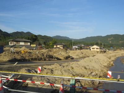 久しぶりの福岡への旅⑨原鶴温泉へ・・九州北部豪雨災害風景を見ながら