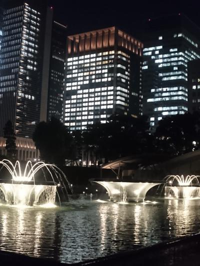 会社帰りに和田倉噴水公園と丸の内をお散歩  。*:゜☆ヽ(*'∀'*)/☆゜:。*。