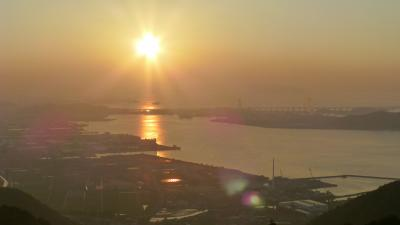 『休暇村讃岐五色台』から見る瀬戸内海の夕景