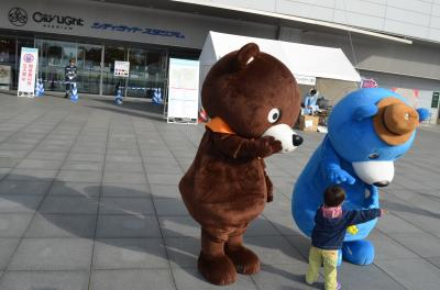 岡山マラソンの前日、競技場を通りかかりました