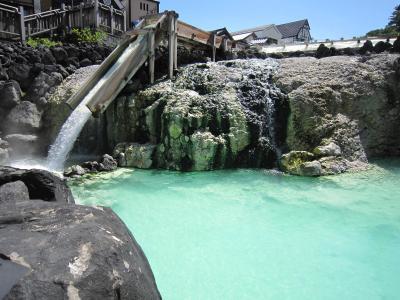 日帰り 草津温泉で入浴と足湯ざんまい