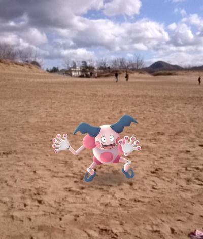 カニ鍋と鳥取砂丘でポケモンgoイベント