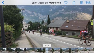 サン=ジャン=ド=モーリエンヌでツール ド フランス