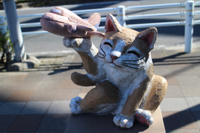 常滑で「猫」を探す街歩き、その後は中部国際空港(セントレア)の展望デッキで飛行機見物。