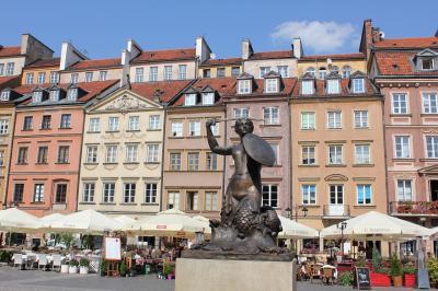 ポーランド旅行記(5)クラクフ→世界遺産ワルシャワ歴史地区 街歩き