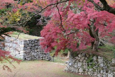 2017秋、奈良の名城巡り(5/12):11月16日(5):高取城(5/6):高取城、本丸跡、天守台、楓の紅葉