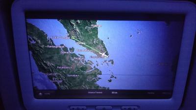 シンガポールから帰国 - マレーシア航空 ビジネスクラス