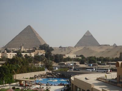 ピラミッドを満喫する。。。「ル・メリディアン・ピラミッズ」&「カイロ・マリオット」スィートルーム[宿泊記]