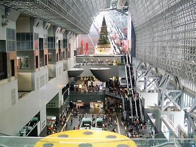 京都駅ビルの空中径路!