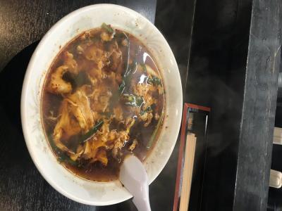 辛麺でシメル