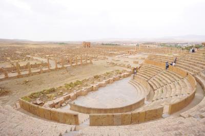 2017アルジェリアで夏休み その8巨大ローマ都市ティムガッド遺跡