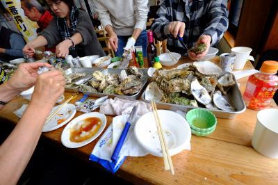 「人気の与吉屋であっあっの焼き牡蠣食べ放題」のツアーに行って来ました