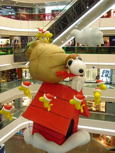 香港★スヌーピーのクリスマス! ~檀島珈琲餅店Honolulu Coffee Shop・時代廣場Times Square~
