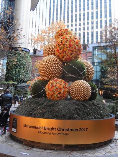 クリスマスの風景を求めて丸の内仲通り三丁目を歩く