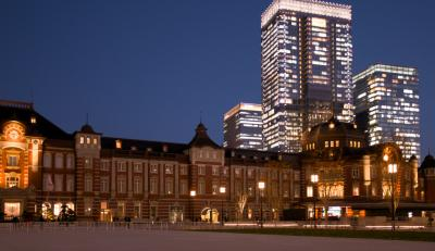 東京駅丸の内側工事も終わり新しくなった行幸通り&丸の内中通のイルミネ-ション