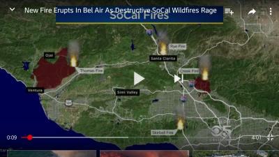 ~注意喚起!!!~ロサンゼルス地区の山火事に注意