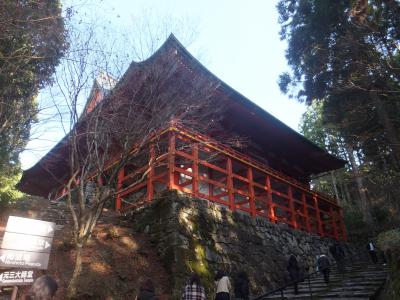 フェリーで比叡山紅葉狩り[4] 延暦寺を東から登って西へ降りる