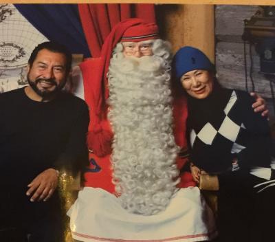 サンタ と オーロラを求めて