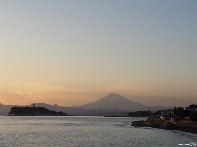 富士山を眺めながら湘南散歩:江の島~稲村ヶ崎