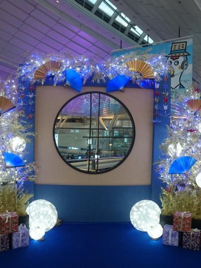羽田空港 国際線ターミナル Sky illumination~誰も見たことのない光~    *:゜☆ヽ(*'∀'*)/☆゜:。*。