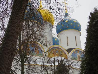 12月のモスクワ&サンクトペテルブルク   3日目 セルギエフ・ポサード観光後、飛行機でサンクトペテルブルクへ