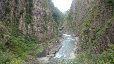 新潟県 南魚沼 美味すぎるへぎそばと白飯 (6-3) 絶景の清津峡