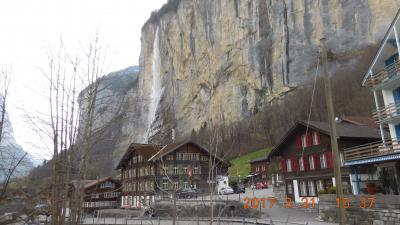 早春のスイス・黒い森・アルザスを巡る 6 5日目 スノーハイキングⅡ~ラウターブルンネン~インターラーケン