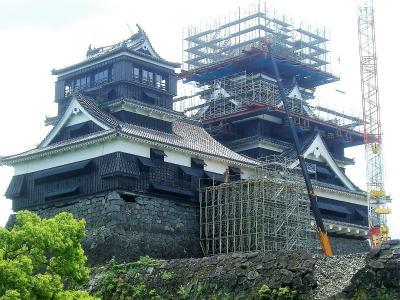 修復中熊本城 作成中