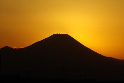 富士山の夕焼け-イトーヨーカドー東久留米店7F駐車場