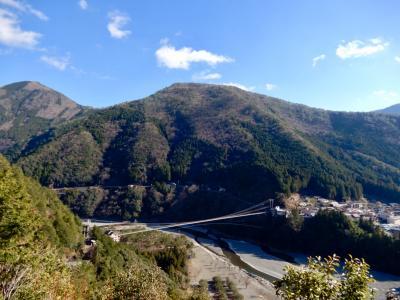 日本一長い路線バスで行く 『ゆる~い旅・前編』 谷瀬の吊り橋を渡り 谷瀬の里をゆっくり歩く♪ 森山展望台からの眺めは最高