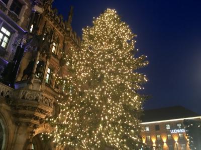 ミュンヘンのホテルとクリスマスマーケット。
