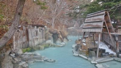 福島県 猪苗代と高湯温泉 (6-3) 安達屋旅館の混浴大露天風呂