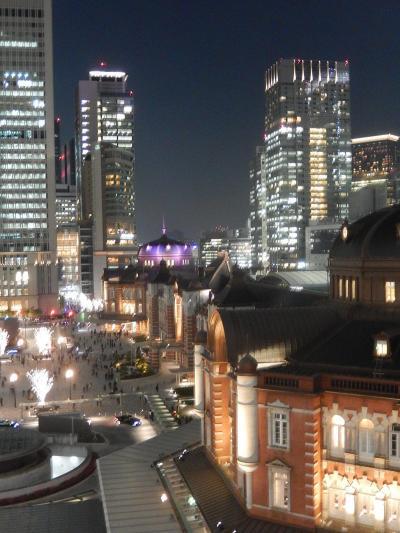 JPタワーの屋上ガーデンから見られる夜景